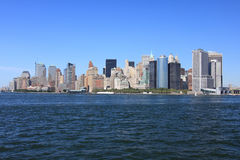Lower Manhattan-Skyline, New York Stockbilder