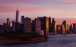 Lower Manhattan Skyline Stock Photography