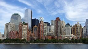 Lower Manhattan Skyline, New York City. Royalty Free Stock Photo