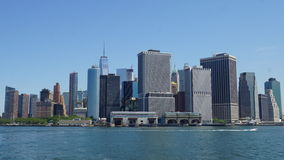 Lower Manhattan Skyline in New York City Royalty Free Stock Photo
