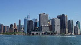 Lower Manhattan Skyline in New York City Stock Photo