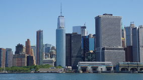 Lower Manhattan Skyline in New York City Royalty Free Stock Photos