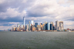 Lower Manhattan Skyline - New York, USA Stock Photo