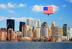 Lower Manhattan Skyline, NYC Royalty Free Stock Photo