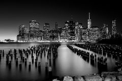 Lower Manhattan Skyline,NYC Royalty Free Stock Photography
