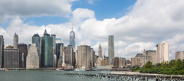 Lower Manhattan-Skyline, NYC, USA Lizenzfreies Stockbild