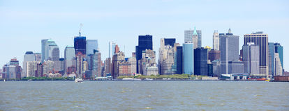Lower Manhattan skyline panorama Stock Photos