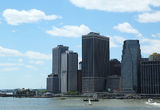 Lower Manhattan skyline panorama Stock Photography
