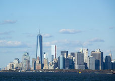 Lower Manhattan skyline panorama Stock Images