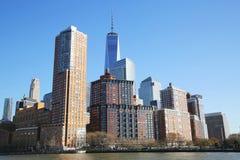 Lower Manhattan skyline panorama Royalty Free Stock Photos
