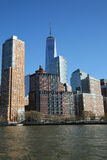 Lower Manhattan skyline panorama Royalty Free Stock Images