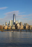 Lower Manhattan skyline panorama Royalty Free Stock Photo