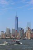Lower Manhattan skyline panorama Royalty Free Stock Photo