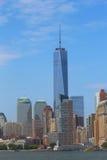 Lower Manhattan skyline panorama Royalty Free Stock Images