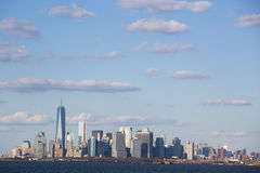 Lower Manhattan skyline panorama Stock Photo