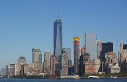Lower Manhattan skyline panorama Stock Photo