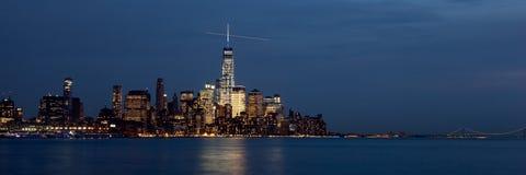 Lower Manhattan Skyline at Twilight Stock Photo