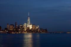 Lower Manhattan Skyline at Twilight Stock Image