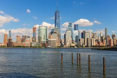 Lower Manhattan Skyline, USA Royalty Free Stock Images