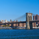 Lower Manhattan skyline view from Brooklyn Royalty Free Stock Photos