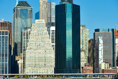 Lower Manhattan skyline view from Brooklyn Stock Photography
