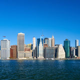 Lower Manhattan skyline view from Brooklyn Royalty Free Stock Photo