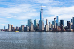 Lower Manhattan Skyline. A view of the World Trade Center and Lower Manhattan from Liberty State Park. Photo taken on March 6, 2016 Royalty Free Stock Image