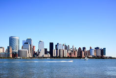 The Lower Manhattan Skylines Stock Images