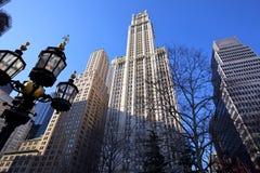 Lower Manhattan skyscrapers Stock Image