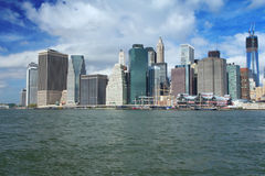 Lower Manhattan in a sunny morning Stock Image