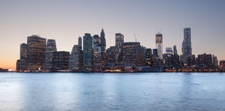 Lower Manhattan from Brooklyn Royalty Free Stock Images