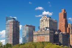 Lower Manhattan-Türme Stockbilder