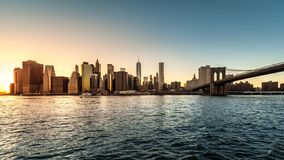 Lower Manhattan timelapse (deel 1) stock videobeelden