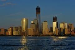 Lower Manhattan van New Jersey Stock Foto