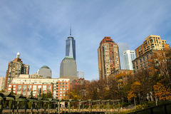Lower Manhattan, View from Battery Park, New York Royalty Free Stock Photo