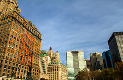 Lower Manhattan, View from Battery Park, New York Royalty Free Stock Image