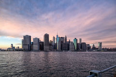 Lower Manhattan. View from Brooklyn Promenade Stock Photos