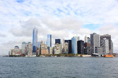Lower Manhattan. View of Financial District in Manhattan Royalty Free Stock Images