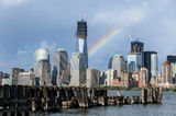 Lower Manhattan View from Jersey City Stock Photo