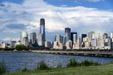 Lower Manhattan View from Jersey City Stock Photos