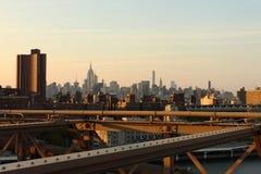 Lower Manhattan view, NYC, Royalty Free Stock Photo