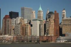 Lower Manhattan vom Wasser Lizenzfreies Stockfoto