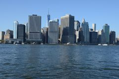 Manhattan waterfront royalty free stock images