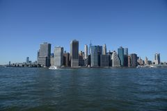 Manhattan waterfront East River royalty free stock photo