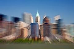 Lower Manhattan- Zoom Effect. Lower Manhattan scene with zoom effect Stock Photos