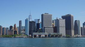 Lower Manhattanhorisont i New York City Royaltyfria Foton