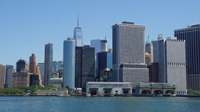 Lower Manhattanhorisont i New York City Arkivfoto