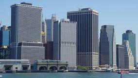 Lower Manhattanhorisont i New York City Fotografering för Bildbyråer