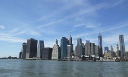 Lower Manhattanhorisontpanorama Royaltyfri Bild