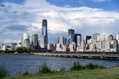 Lower Manhattanmening van de Stad van Jersey Stock Foto's